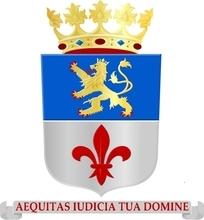 De heraldische kleuren in het wapen zijn azuur (blauw), goud (geel), zilver (wit) en keel (rood). Het wapenschild werd op 17 november 2008 gewijzigd.Beschrijving voan het vorige wapenschild: Doorsneden: I in azuur een dubbelstaartige, klimmende leeuw van goud, getongd en genageld van keel, gekroond van goud, II in zilver een lelie van keel. Het schild gedekt door een gouden kroon van 3 bladeren en 2 parels.