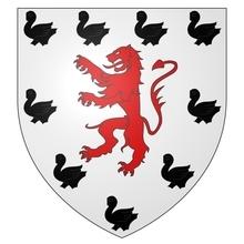 Armes de Jeanne de LAMBERSART sur écu ancien.