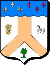 Blason réalisé par mes soins en 2019.Il indique mes origines(Anjou, bord de Loire) mon attachement à la terre(gerbe) ainsi que mon intérêt pour la Généalogie(arbre) et sans oublier mon patronyme (cheval).