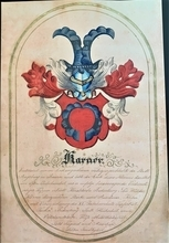 This information is from the inscription on the photo. Family Crest Karner Family - Family from Bernstein Austria