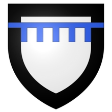 Armes de la famille de LANDAS (puîné) sur écu ancien.
