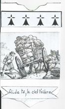 """Illustration d'une fable de JEAN DE LA FONTAINE,le chartier embourbé,avec la morale finale """"Aide toi,le ciel t'aidera"""" elle est valable pour tous,et souvent."""