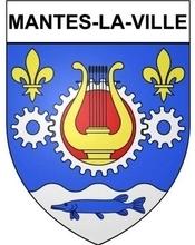Le blason de Mantes-la-Ville a été réalisé en 1961 seulement. La couronne dentée évoque les industries mécaniques ; la lyre rappelle que Mantes-la-Ville fut et demeure un centre de fabrication d'instruments de musique; les deux fleurs de lis rappellent les armes de l'Île-de-France.