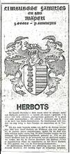 Het wapenschild komt uit een krant (het belang van limburg 1972 ?) Het schild is te zien in de kerk van Halle Booienhoven