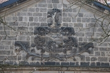 Wappen am Schloß in Langenstein