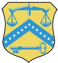 Coat of arms in the seal of the Federal Department of Treasury.