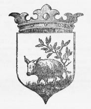 """Source : Wikipedia, article """"Château-Porcien"""".Image extraite de """"CHRONIQUE DE JEAN TATÉ GREFFIER DE L'HOTEL-DE-VILLE DE CHATEAU-PORGIEN"""" (1677-1748)"""